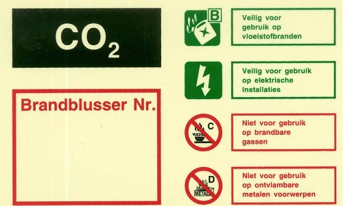 Identificatiebord CO2 blusser